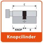Knop Cilinder SKG